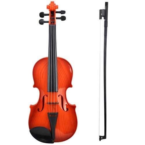 Accessotech Electric Kids Toy Violin & Bow Childrens Musical String Instrument for Practice