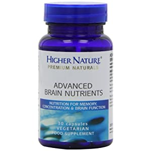 4126CfnmsQL. SS300  - Higher Nature Advanced Brain Nutrients - 30 Capsules