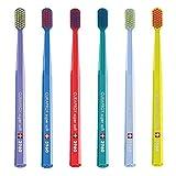 Super Soft Toothbrush, 6brushes, Curaprox super soft 3960. Better Cleaning & Medium Softness in Grand colori per lui e per lei.