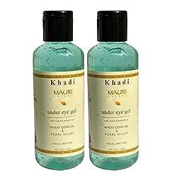 Khadi Mauri Under Eye Gel for Dark Circles - Pack of 2 - Herbal & Ayurvedic