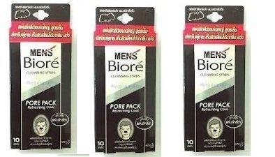 biore-men-nose-deep-cleansing-pore-pack-refreshing-cool-10-strips-per-set-black-x-3-sets-by-bior