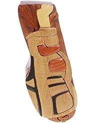 Beltiscool adulto hecho a mano de madera diseño de juego de Golf secreto joyas caja de Puzzle–Juego de golf un tamaño Natural
