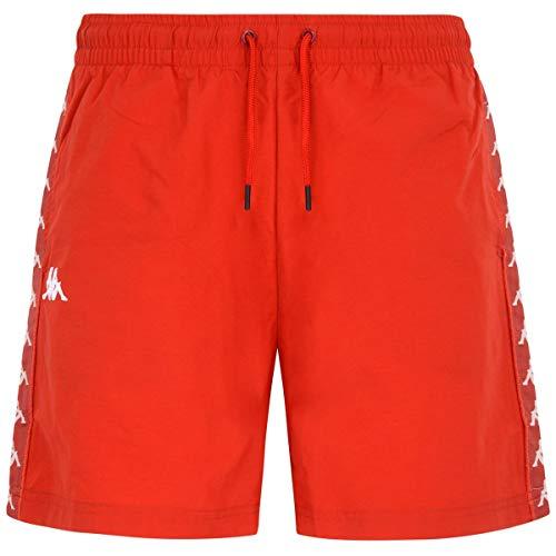 Kappa - Pantalones Cortos para Hombre 222 Banda Coney, Arancione, X-Large