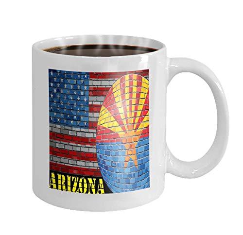 Arizona Socke (11 oz Coffee Mug arizona flag usa flag background arizona flag usa flag background ball arizona flag Novelty Ceramic Gifts Tea Cup)