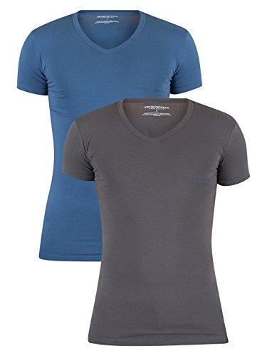 emporio-armani-mens-2-pack-v-neck-logo-t-shirt-blue-x-large