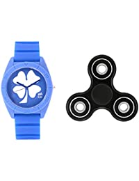 Fantasy World Blue Watch And Spinner Combo For Boys And Girls - B0789LPNNG