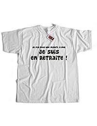 Tee shirt humour - Je n'ai plus une minute à moi, je suis en retraite