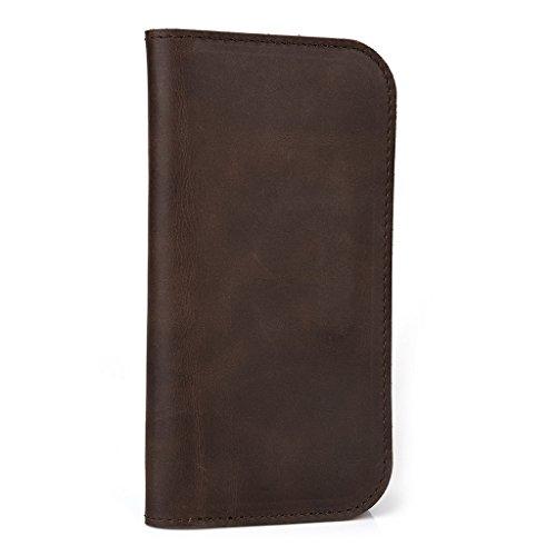 Étui portefeuille en cuir véritable pour Acer Liquid Z4Duo/M220pour Brun - peau Marron - marron