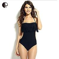 Unory (TM) Nuovo sexy triangolare di moda Costume intero petto Paded Avvolto WS164 nappa Swimwear No acciaio Prop