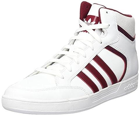 adidas Unisex-Erwachsene Varial Mid Hohe Sneaker, Weiß (Footwear White/Collegiate Burgundy/Footwear White), 40