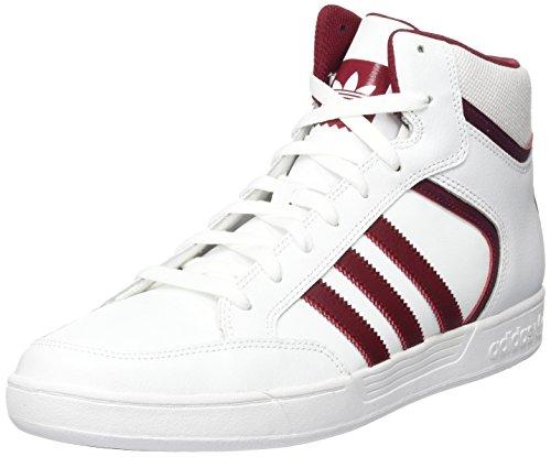 adidas Unisex-Erwachsene Varial Mid Hohe Sneaker, Weiß (Footwear White/Collegiate Burgundy/Footwear White), 41 1/3 EU