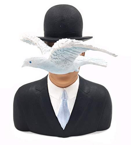 Skulptur - Der Mann mit der Melone / Man with the Bowler Hat - nach einem Motiv von Rene Magritte, 16 cm #04