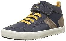 Geox J Alonisso G, Sneaker a Collo Alto Bambino, Blu (Navy/Dk Yellow C4229), 24 EU
