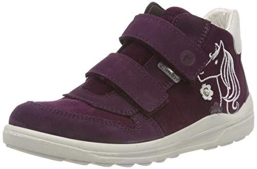 (RICOSTA Mädchen Fiona Hohe Sneaker, Rot (Merlot 381), 28 EU)