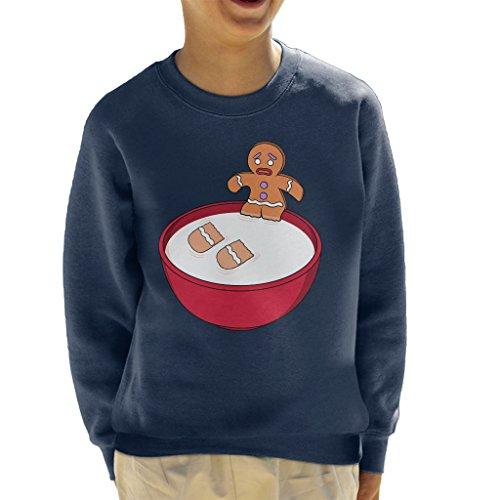 Cloud City 7 Shrek Gingerbread Man Milk Problems Kid's Sweatshirt Shrek Gingerbread