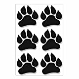 easydruck24de 6er Set Sticker Tier-Pfoten I kfz_278 schwarz I 10 x 10 cm I Auto-Aufkleber Laptop Handy wetterfest Hunde-Pfoten Katzen-Pfoten außenklebend groß