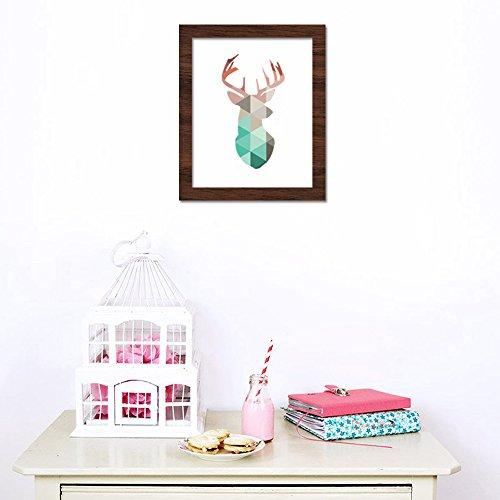 Newsbenessere.com 4126JmzR1LL Funlife testa di cervo, design Coral-Poster, stampa artistica su tela, a quadri, per decorazione per la casa, non includono CP002 cornice