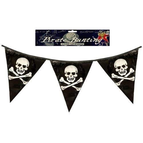 Henbrandt 12 Piraten Fahnentuch Dreieckig Wimpel Flaggen 12ft PVC