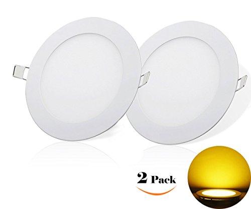 NRG Clever® RPA4WW, Packung mit 2 Stück, Deckeneinbauleuchten LED-Einbauleuchte 4W, Ultradünnem Runde durchmesser 105mm 360LM, Heiß Weiß 3000K, enthält die Transformatoren LED-Treiber 85-265Vac