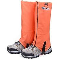 TRIWONDER Polainas Impermeable de Senderismo para piernas a Prueba de Viento Nieve Lluvia para Montaña Caza Esquí Escalada (1 Par)(Nananja,M)