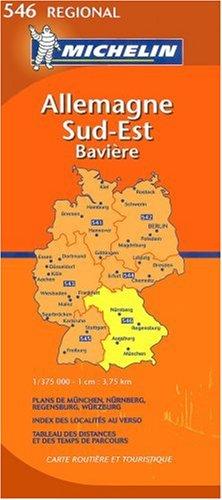 Allemagne Sud-Est Bavière : 1/375 000
