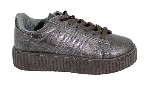By Shoes - Damen Sneakers Dark Grey