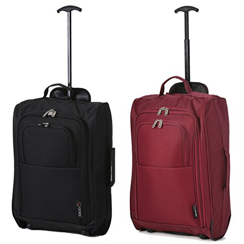 5 Cities Bagage cabine, BLACK+WINE (Multicolore) - TB023-830 BLACK + 830 WINE
