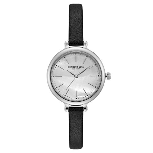 Kenneth Cole New York Women's Quartz Watch with Black Dial Analogue Display Quartz Leather KC50065004