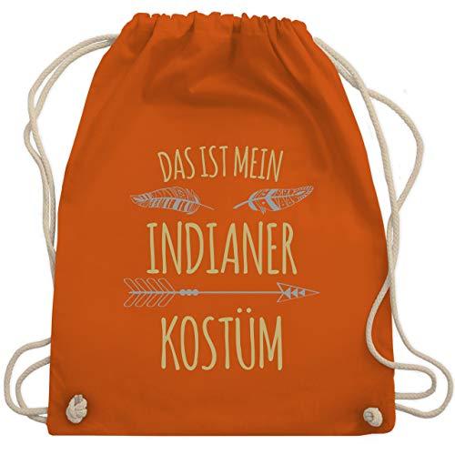 Karneval & Fasching - Das ist mein Indianer Kostüm - Unisize - Orange - WM110 - Turnbeutel & Gym Bag