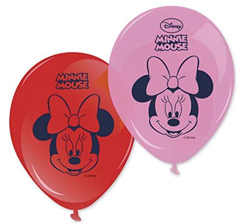 8 Globos estampados Minnie 28 cm