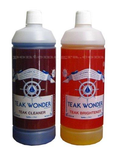 Teak Wonder Combo Pack Brightener + Cleaner 1000ml x 2