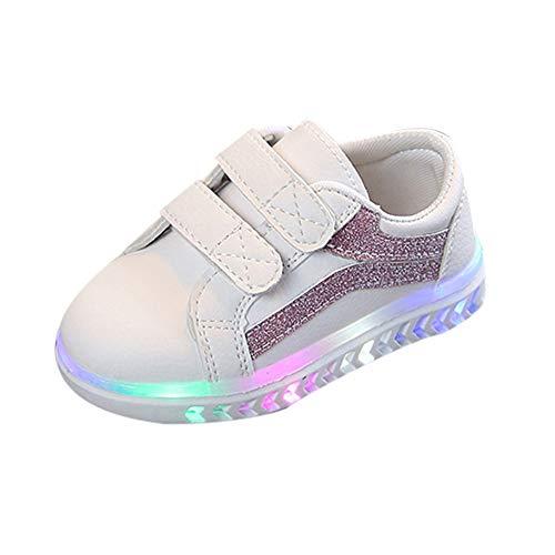 Beikoard Kinder Baby Mädchen Jungen Turnschuhe Buchstabe Masche Sport Schuhe Weiche untere Mädchenschuhe helle Schuhe strahlende Schuhe