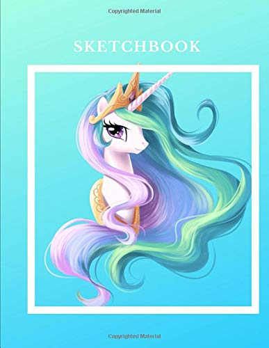 Sketchbook: A Beautiful unicorn Themed Personalized Artist Sketch Book Notebook and Blank Paper For Drawing, Painting Creative Doodling Or Sketching. por Jaz Kiddies Books