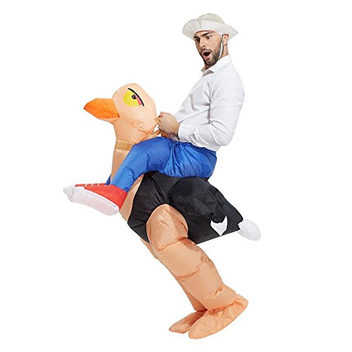 Inflatable Ostrich suit fancy dress Costume Adult Stag Night Party Unisex by Sherwood