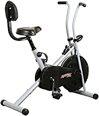 Healthex Exercise Bike with Back Support for Weight Loss and Home Use (BGA1001)