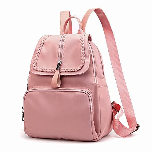 QIAN Frauen Rucksack Damenrucksack Wasserdichtes Oxford Schultaschen Diebstahlsicherer Dayback Geldbörse für Frauen Schultasche für Mädchen,Pink