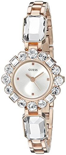 GUESS Women's U0701L3 Dressy Jewelry Inspired Rose Gold-Tone Watch with Self-Adjustable Bracelet (Uhren Guess Fall)