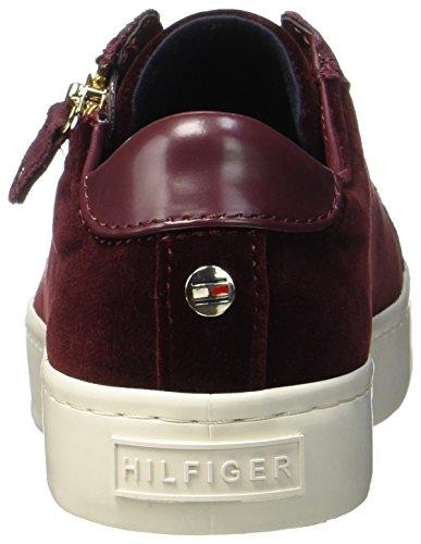 Tommy Hilfiger J1285upiter 2z, Sneakers Basses Femme Rouge (Decadent Chocolate)