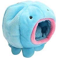 DaHanBL Octopus forma cálida suave cama mascota juguete casa jaula para rata, hámster pájaro ardilla (azul)