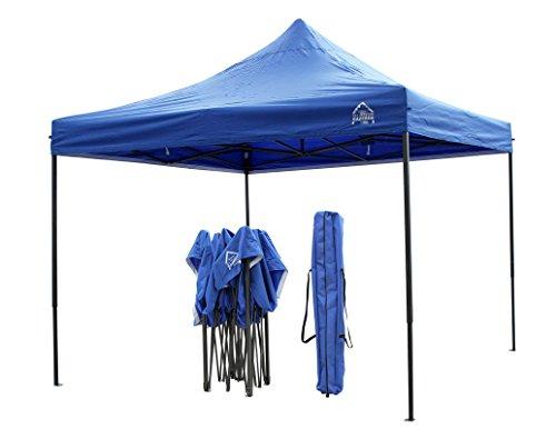 All Seasons - Cenador de 3 x 3 m, resistente, totalmente impermeable, con revestimiento de PVC, desplegable y bolsa con ruedas + 4 sacos de peso para las patas Disponible en varios colores.