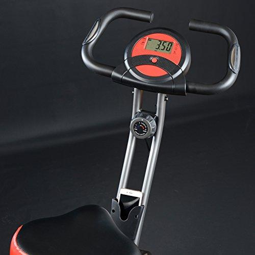 skandika Foldaway X-1000 Fitnessbike Heimtrainer klappbar mit Handpuls-Sensoren, 8-stufiger Magnetwiderstand, LCD Display ohne Rückenlehne - 2