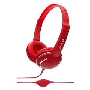 Groov-e Streetz, Kids Headphones with Volume Control, Red
