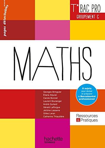 Ressources et Pratiques Maths Terminale Bac Pro Tertiaire (C) - Livre lve - Ed. 2016