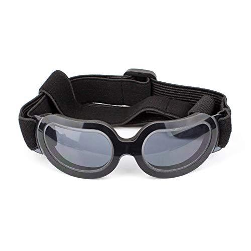 ZDJR Tier-Sonnenbrillen Hunde-Ski-Brillen mit UV-Schutz-Adjustable Strap für Reisen, Skifahren und Anti-Nebel Medium zu großen Hund Multicolor,Black