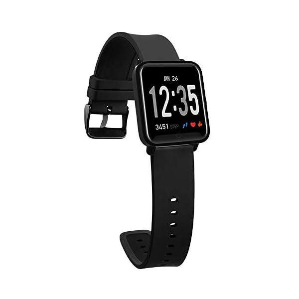 Fitness Tracker IP68 Impermeable Monitor, Letopro Rastreador de Pulsera Actividad Smartwatch Soporte Monitor de ritmo cardíaco Podómetro de presión arterial para Android IOS Mujeres Hombres 2