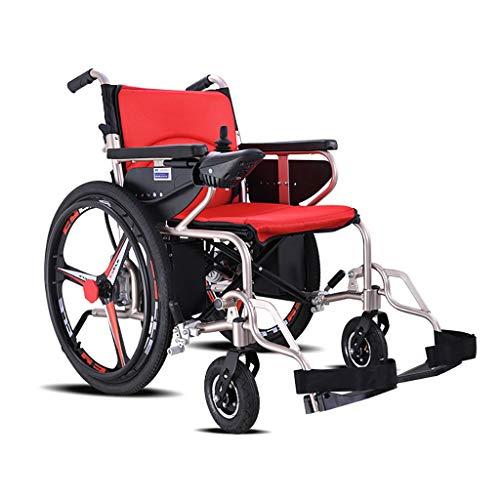 Snow Yang Elektrische Rollstühle mit einstellbarem Anti-Kipp-Rad + intelligenter Joystick, Electric Power oder Verwendung als manuelle Rollstuhlsitzbreite 17 Zoll mit Controller -