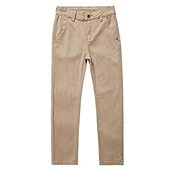 POWER JEANS Boys Casual Uniform Chino Long Pants Beige