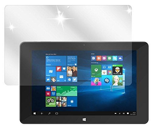 dipos I 2X Schutzfolie klar passend für TrekStor SurfTab Duo W1 Volks-Tablet Folie Displayschutzfolie