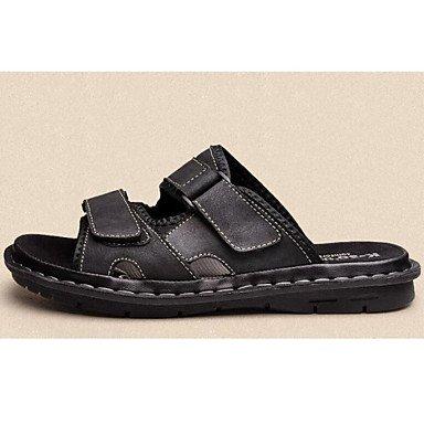 Chaussures d'hommes Outdoor/bureau/Travail & Carrière & Duty / Athletic / Robe / Chaussons en cuir Nappa décontracté noir/brun Black