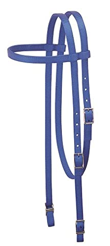 Weaver Leather Nylon Browband Headstall, Blue